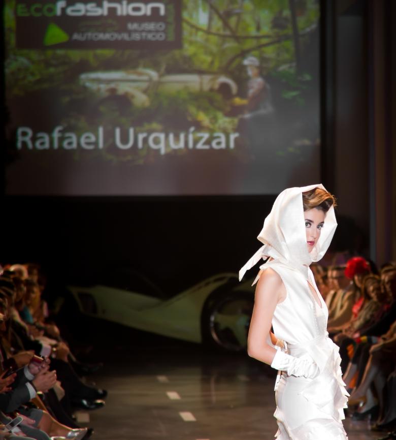 Rafael Urquizar en Eco Fashion, foto de Daniel Díaz
